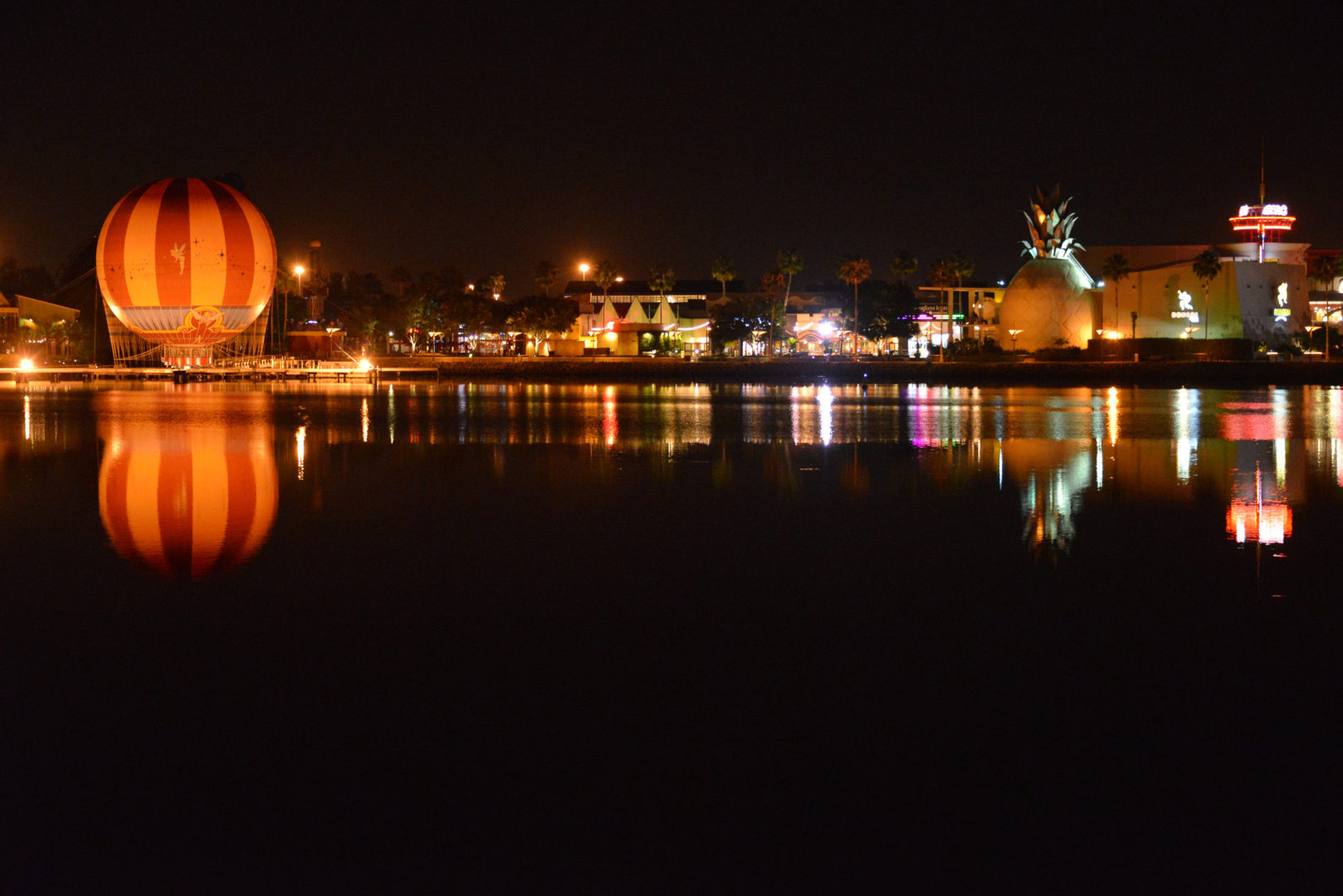 Disney Springs Panorama at Night | CC by Chris Murray