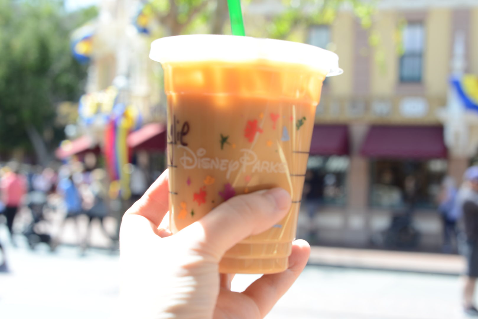 Starbucks Iced Coffee on Main Street at Disneyland