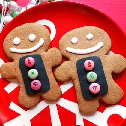 Gingerbread Man Scanner Cookies