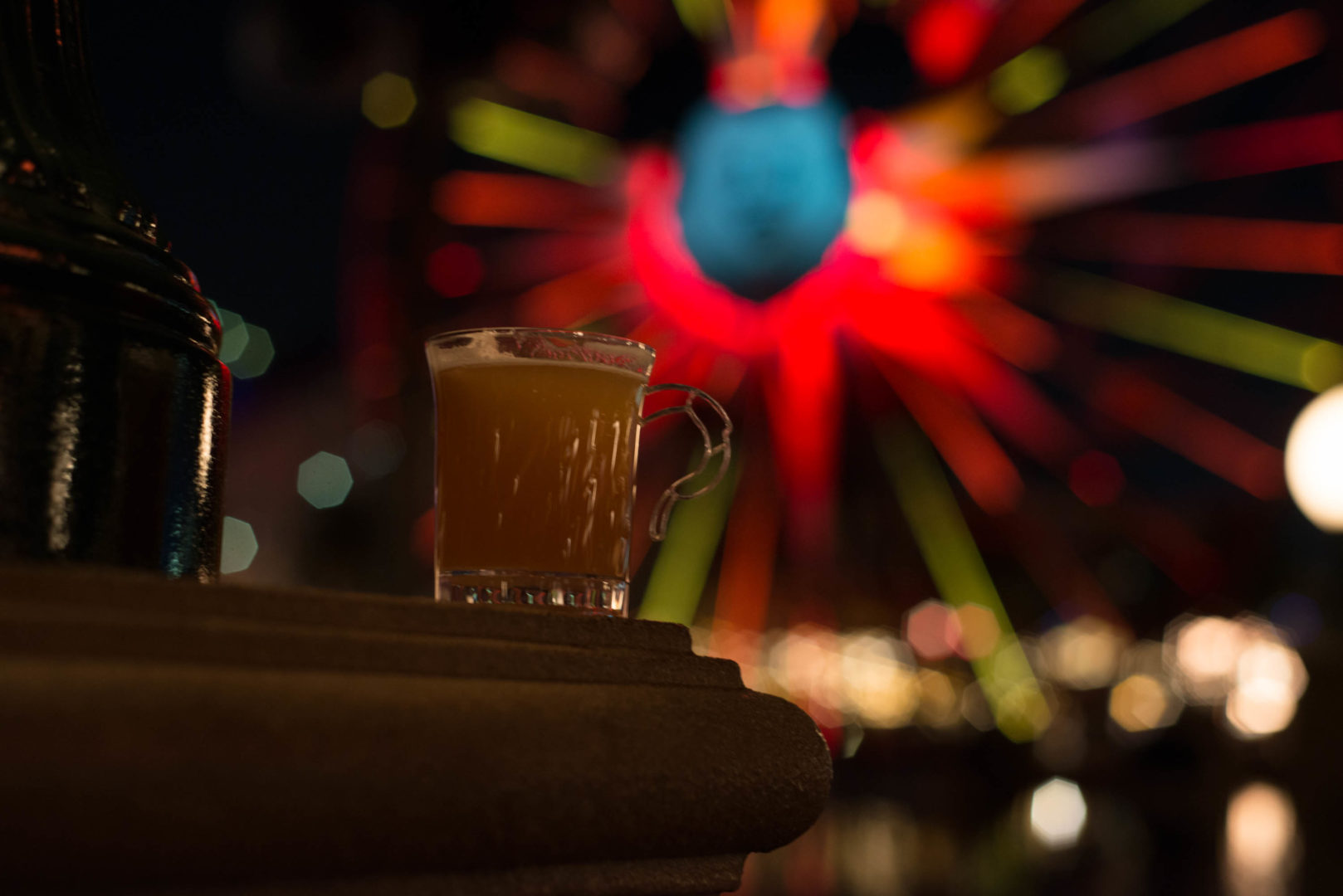 Warm Bourbon Cider with Bourbon Infused Marshmallow at Festival of Holidays in Disneyland