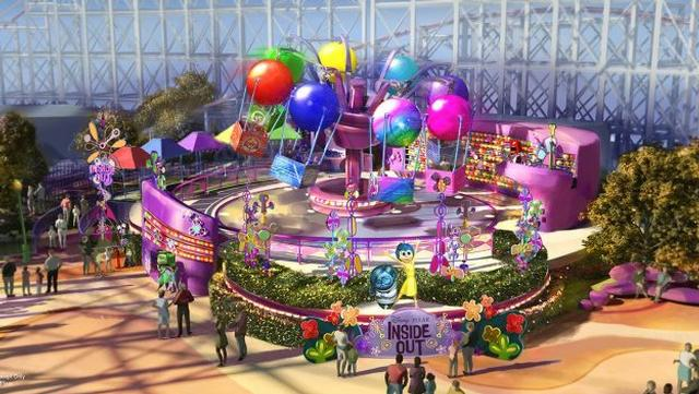 Concept Art for Inside Out Ride: Emotional Whirlwind at Disneyland's California Adventure