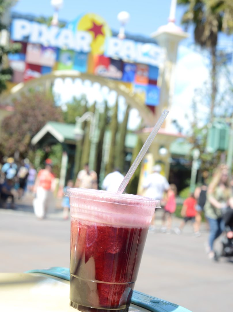 Agua de Jamaica Slushy Drink Pixar Fest at Disneyland