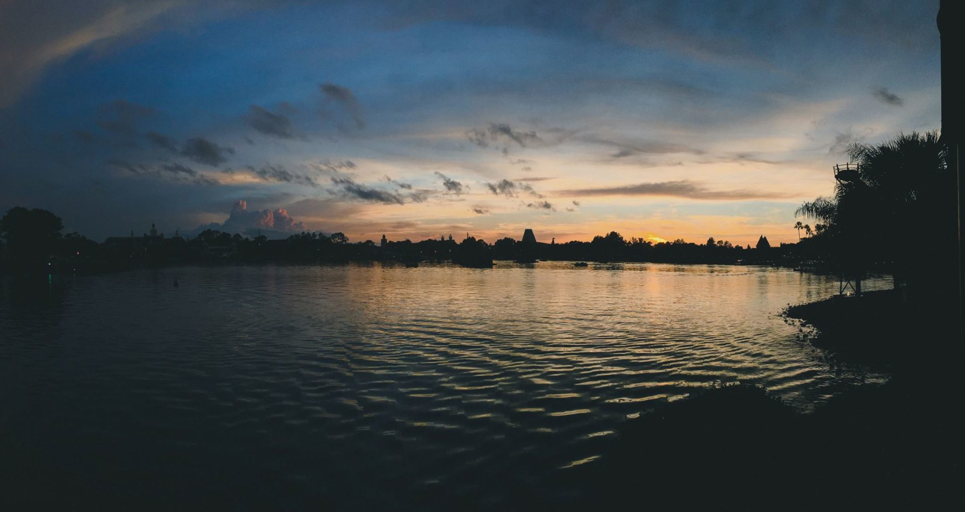 World Showcase Panorama at Disney World's Epcot at Sunset
