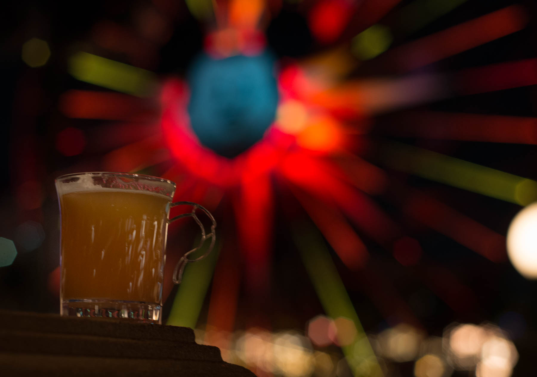 Warm Bourbon Cider with a Homemade Marshmallow from Festival of Holidays in Disneyland's California Adventure