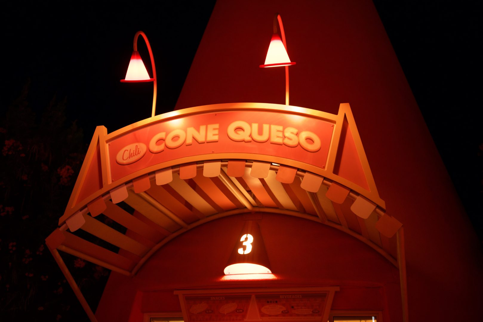 Cars Land Cozy Cone Queso Motel at Disneyland's California Adventure