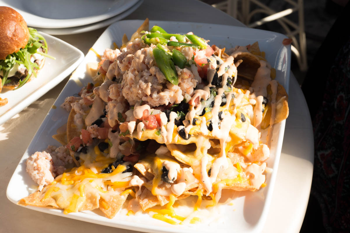 Lobster Nachos from Cove Bar and Lamplight Lounge at Disneyland's California Adventure