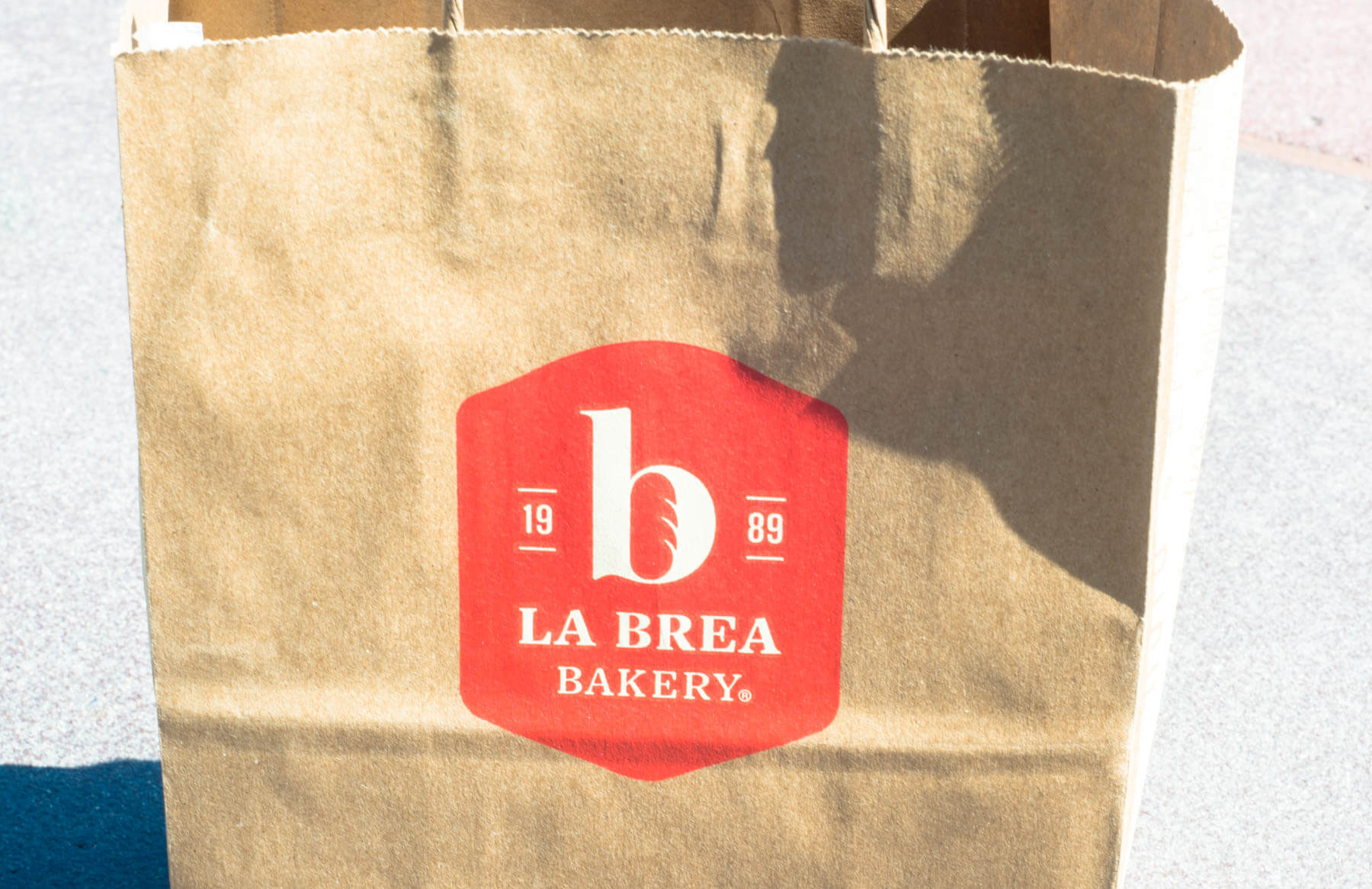 La Brea Bakery Take Out Bag at Downtown Disney | Where to Find Good Coffee at Disneyland