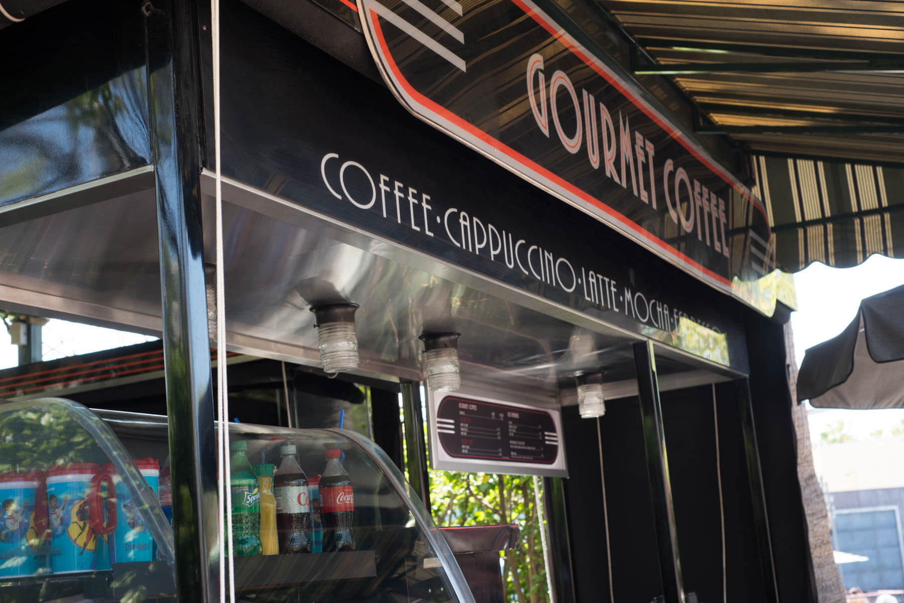 Gourmet Cappuccino Cart near Pixar Pier in California Adventure | Where to Find Good Coffee at Disneyland