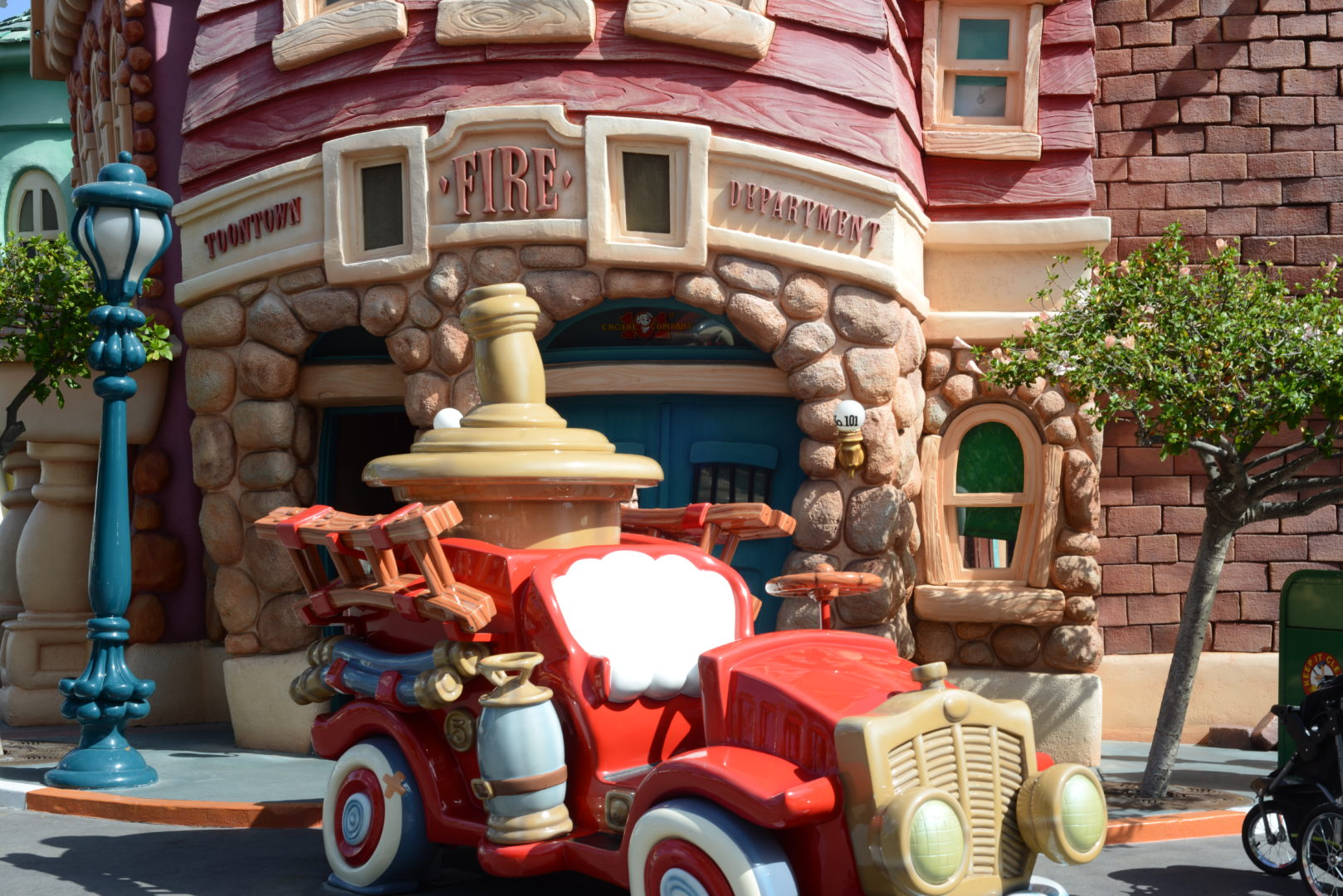 Mickey's Toon Town Fire Truck in Disneyland