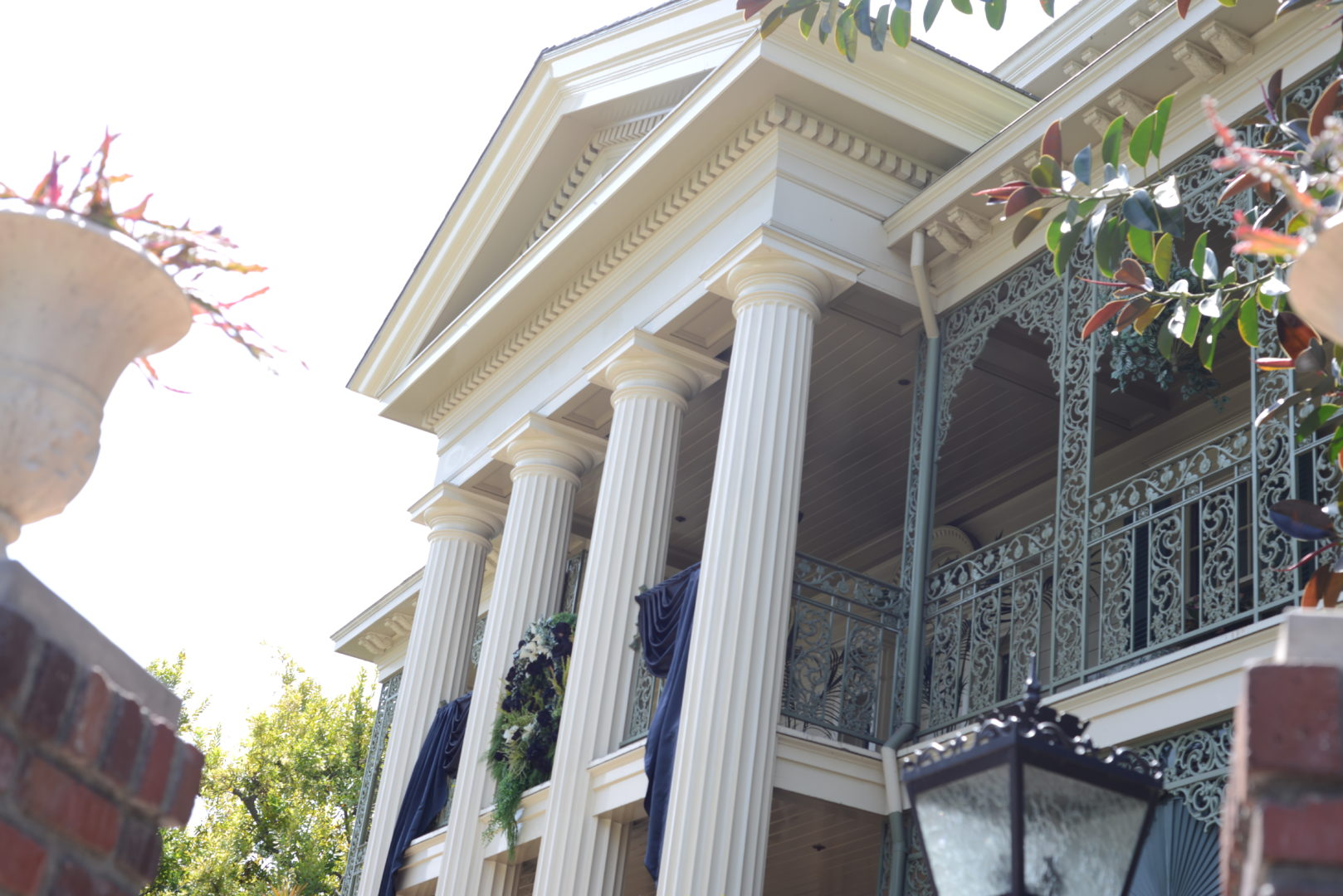 Haunted Mansion Side View of Entrance at Disneyland