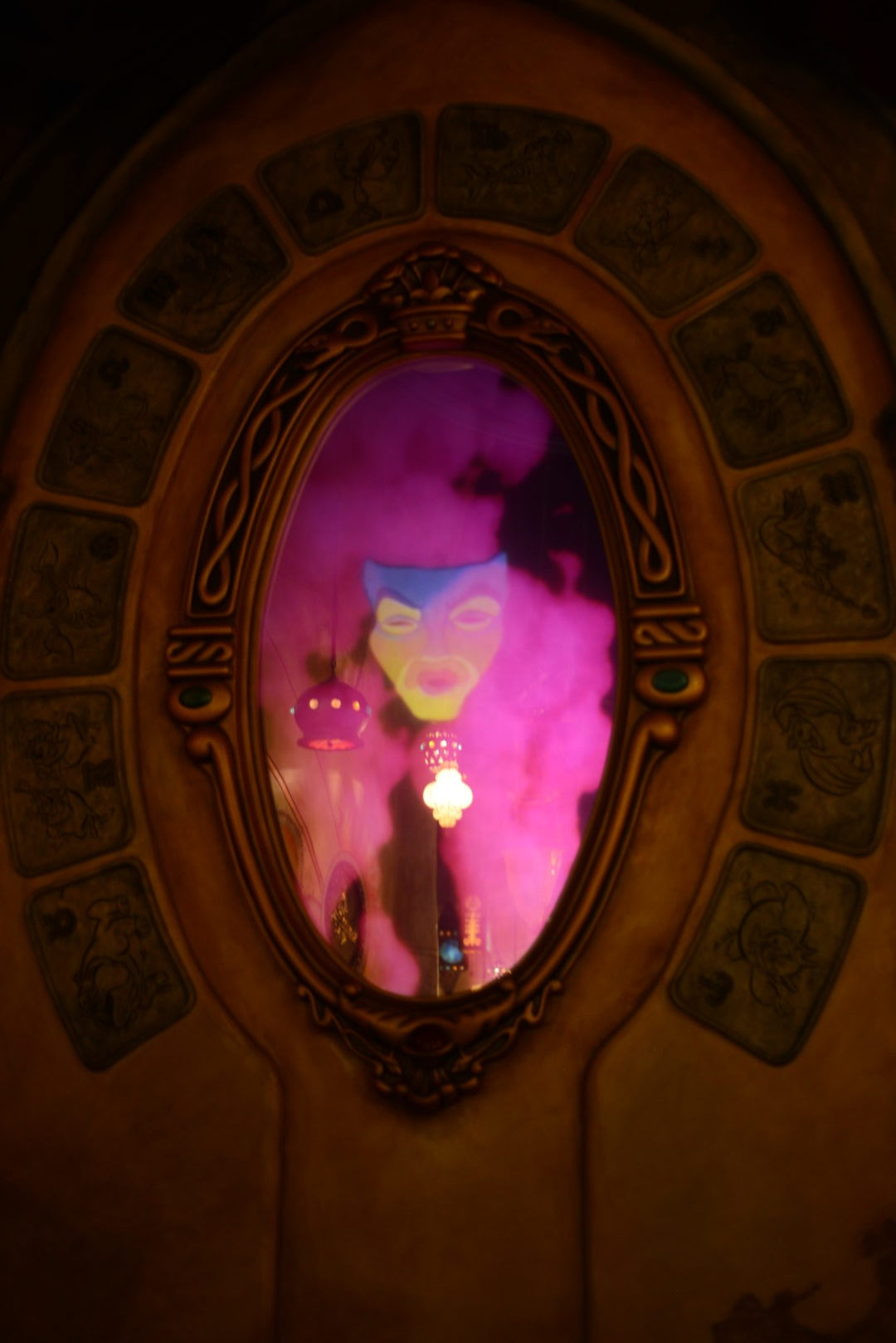 Magic Mirror in Sorcerer's Workshop in Animation Courtyard at Disneyland