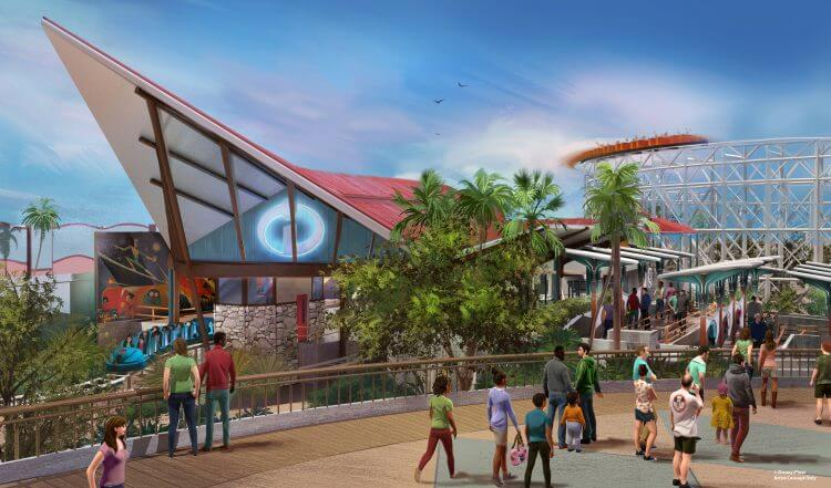 Incredicoaster Concept Art at California Adventure