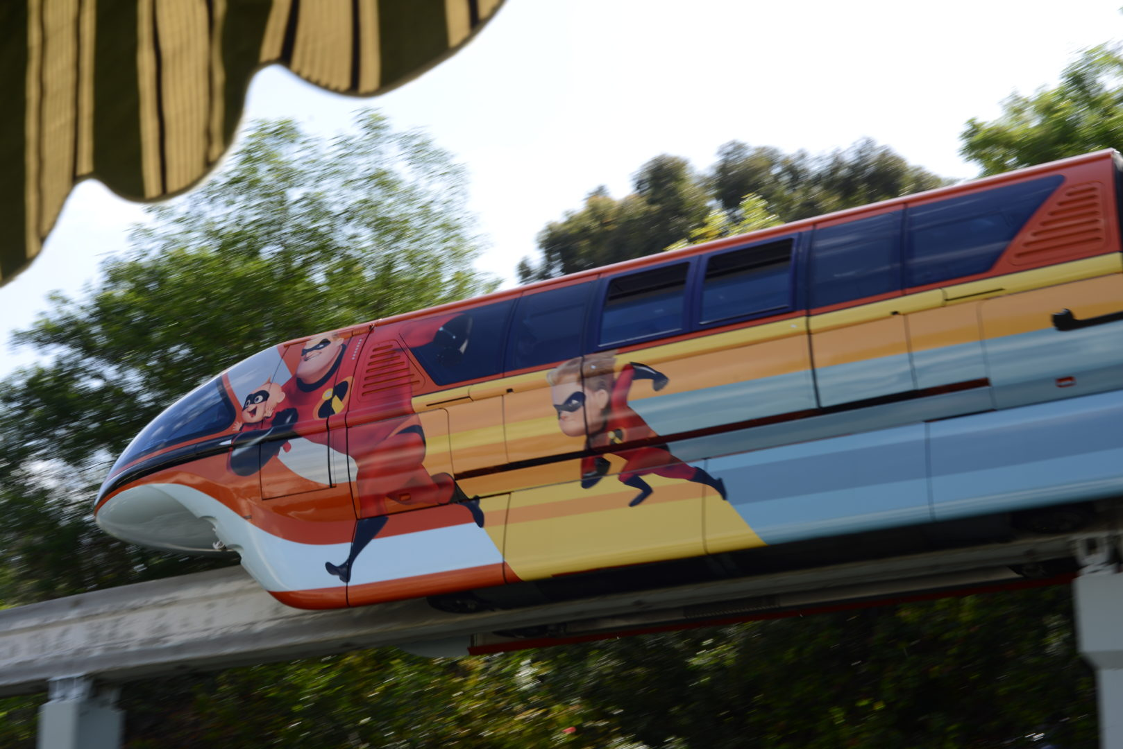 Incredibles Monorail at Disneyland's Pixar Fest