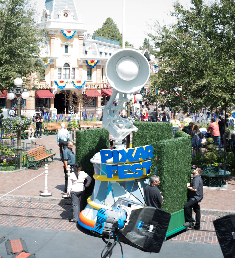 Luxo Lamp Float for the Pixar Play Parade at Pixar Fest in Disneyland