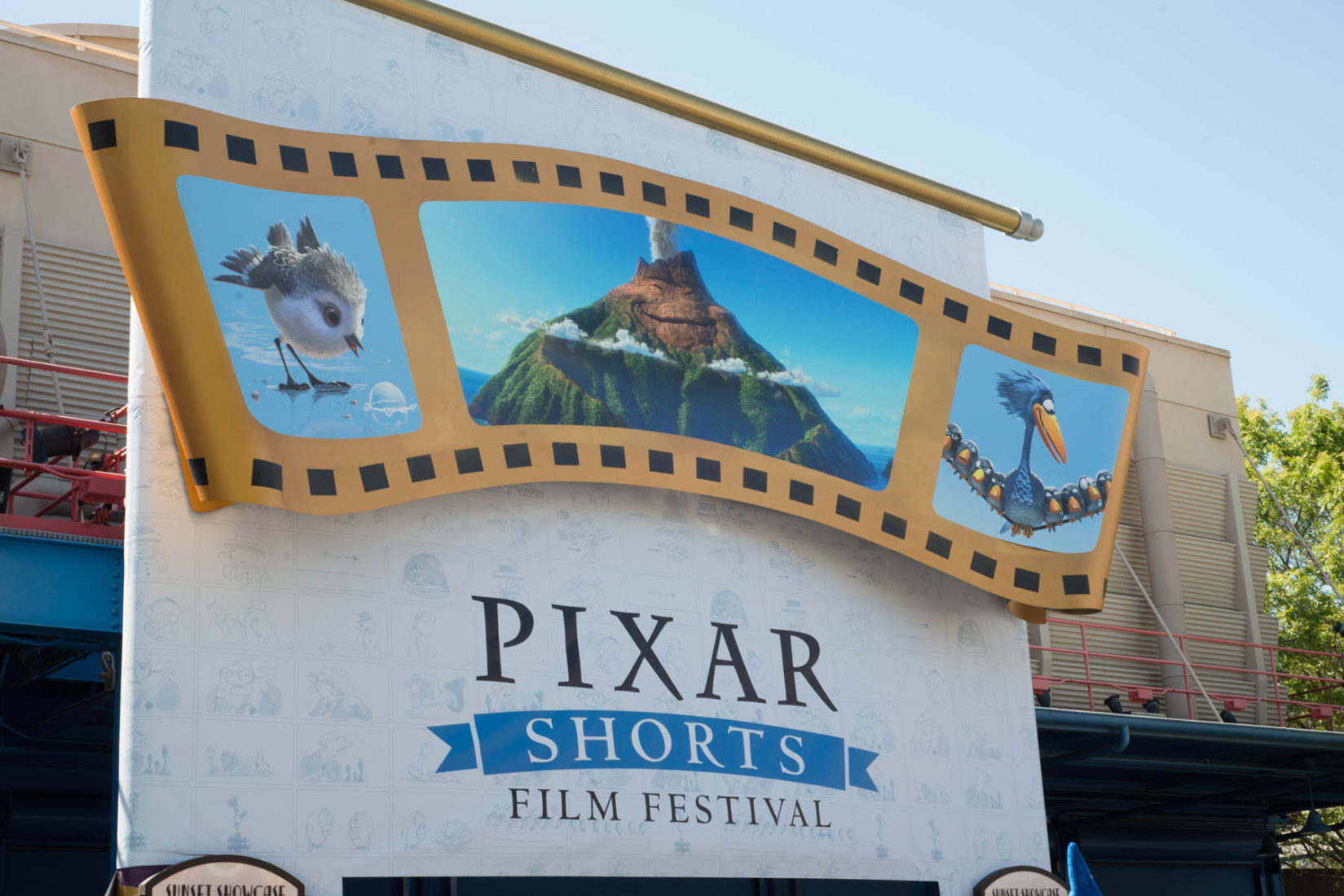Pixar Shorts Entrance at the Sunset Showcase Theatre in Disneyland's California Adventure