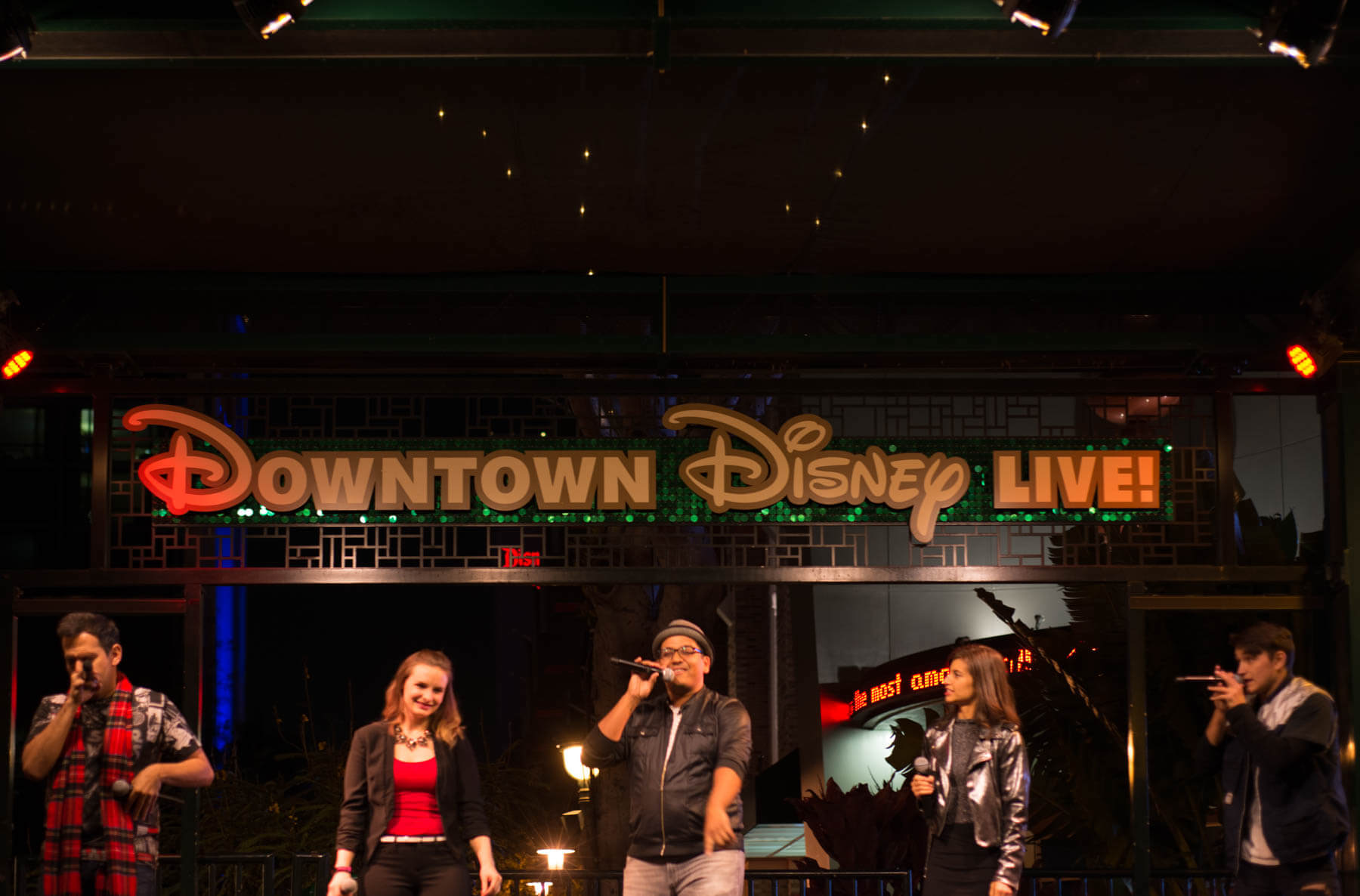 A Cappella Group Singing at Downtown Disney - Nightlife at Disneyland
