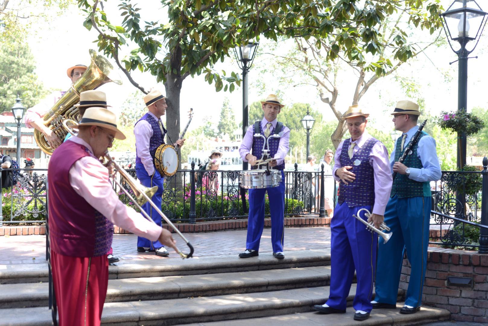 Jambalaya Jazz Band playing in New Orleans Square at Disneyland
