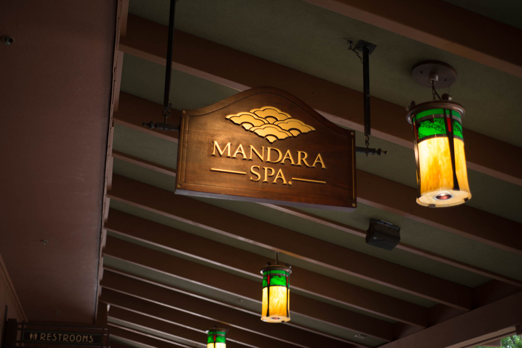 Mandara Spa Sign at the Grand Californian Hotel -Disneyland Hotel Activities for Adults