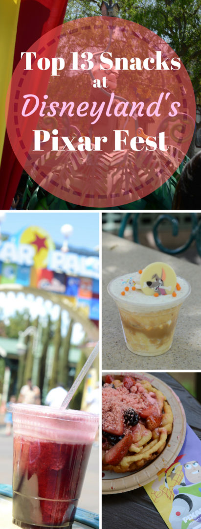 Top 13 Snacks available at Disneyland's Pixar Fest #disneyland #pixarfest #california #food #foodie #snacks