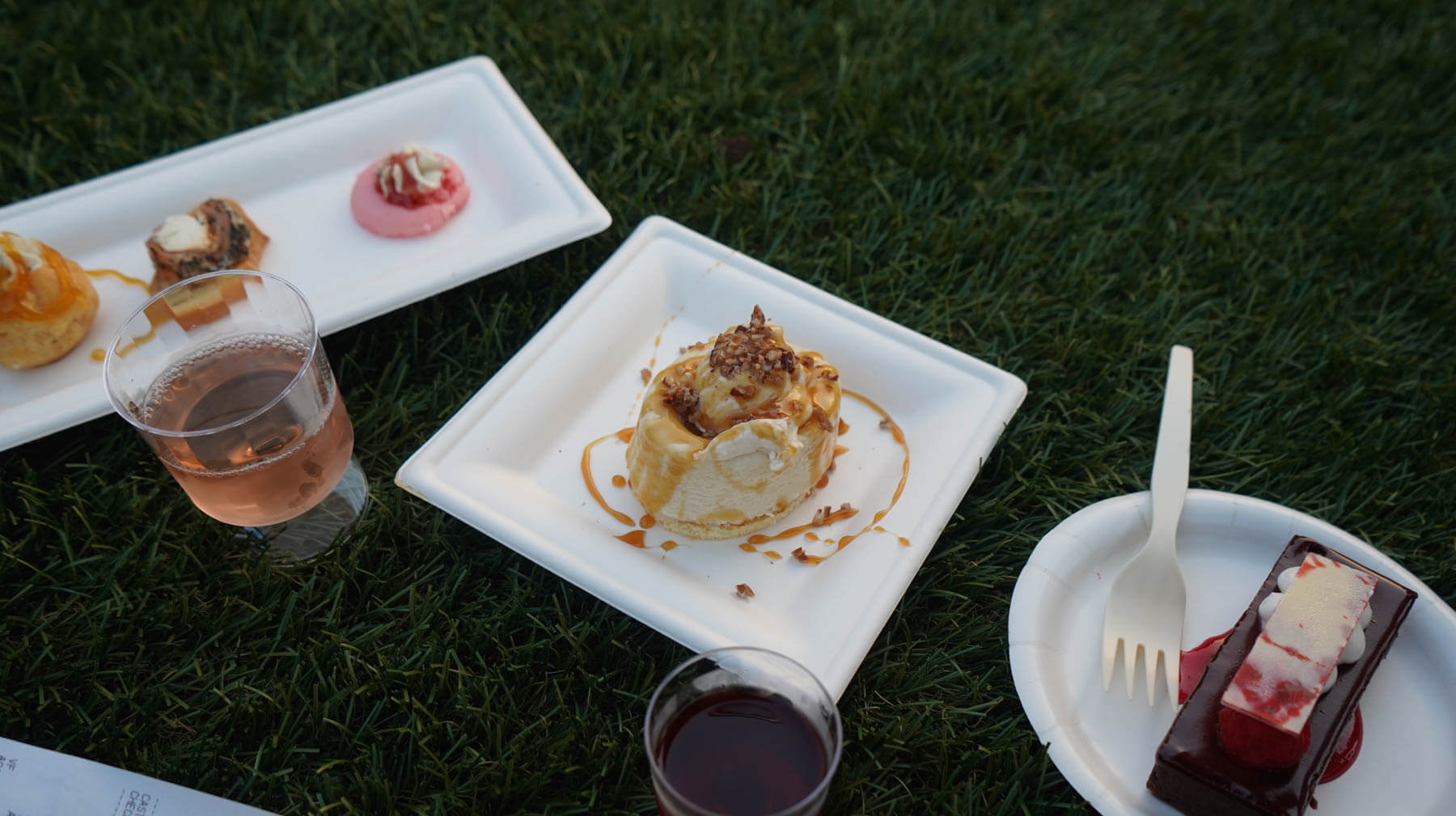 Chocolate Tart, Bourbon Maple Cheesecake, and Cheese Trio from Epcot's Food & Wine Festival 2018