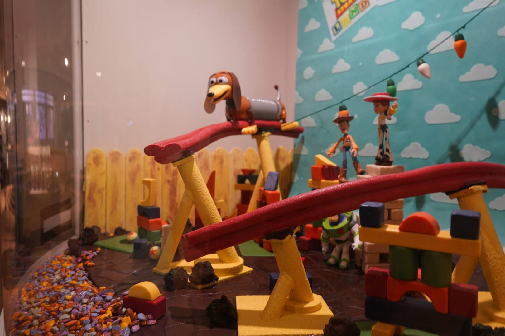 Chocolate Model of Toy Story Land at The Chocolate Experience in Epcot's Food & Wine Festival 2018