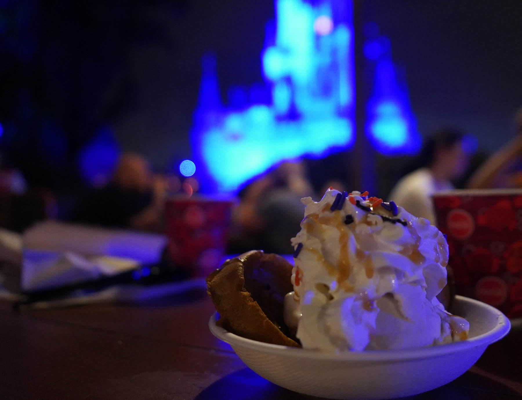 Zero Pumpkin Waffle Sundae from Disney World Halloween Party
