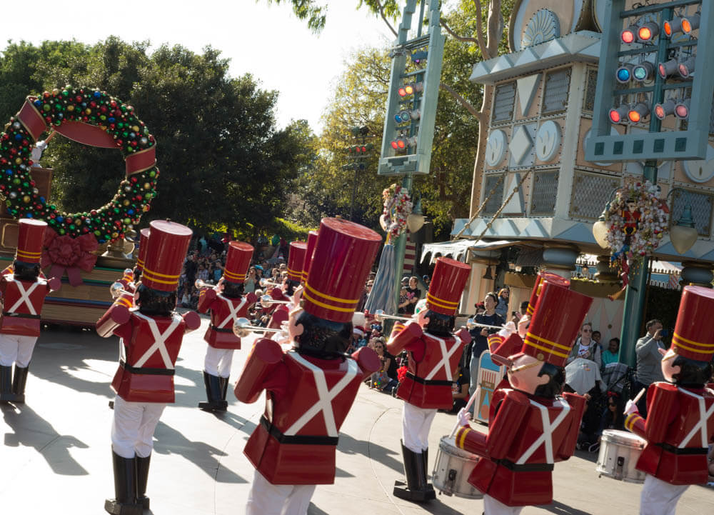 Toy Soldiers at Christmas Fantasy Parade in Disneyland