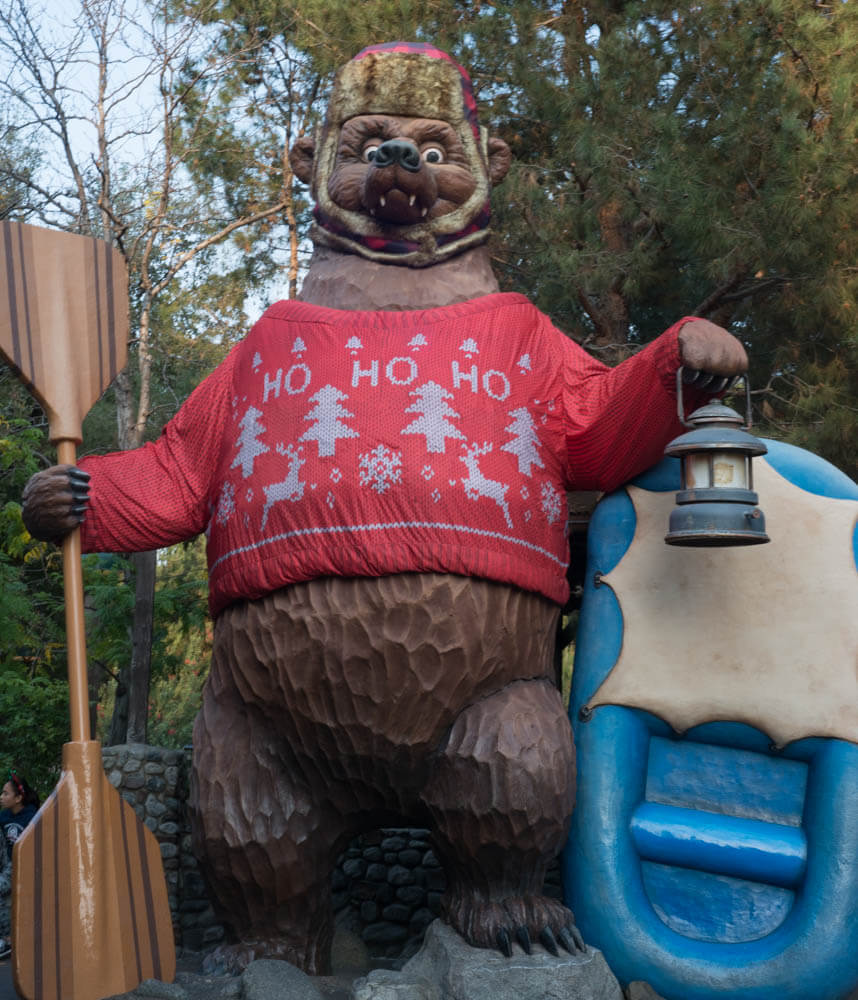 Christmas Sweater Decorated Grizzly Bear - River Run in California Adventure
