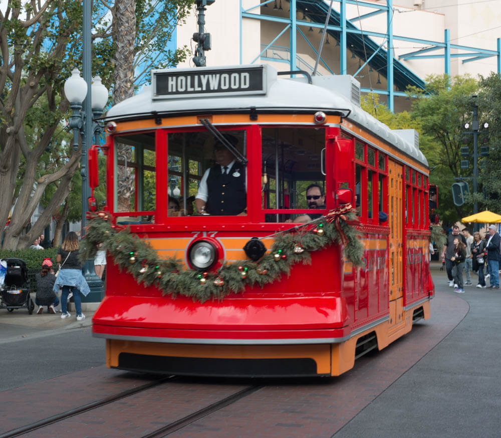 Christmas Trolly at California Adventure