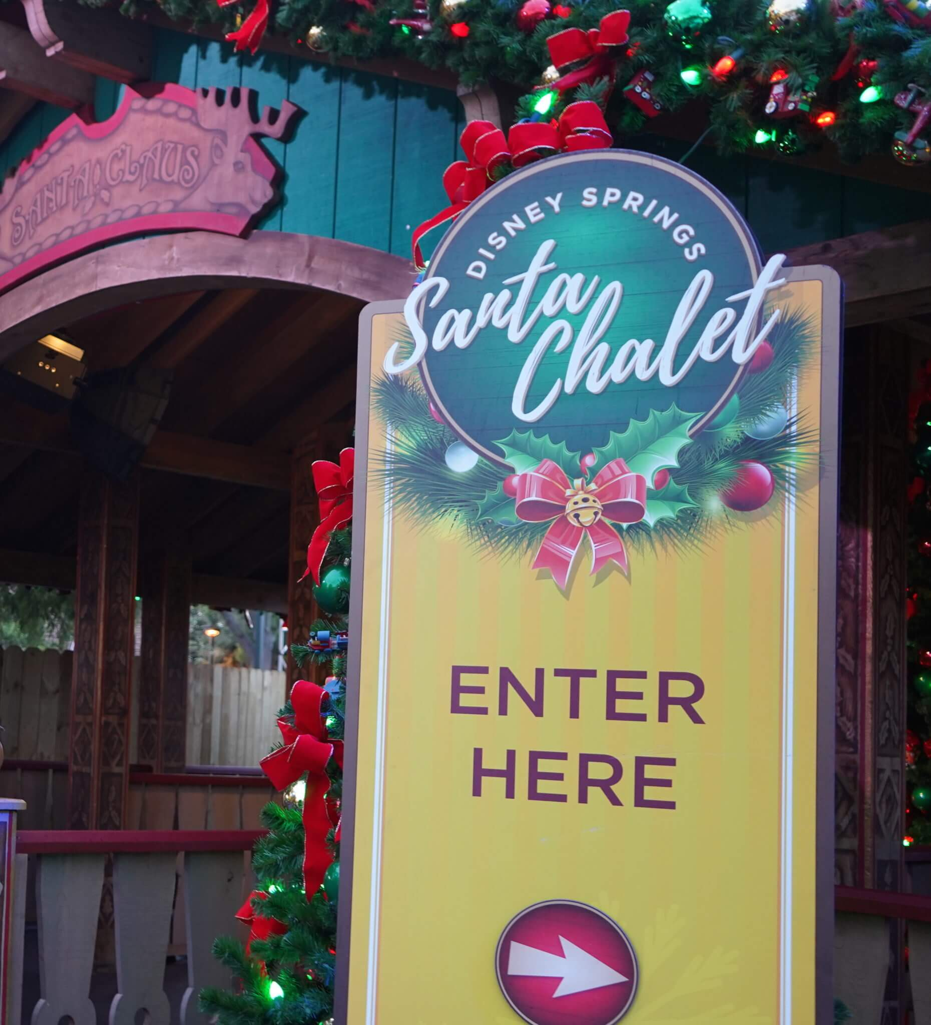 Santa Claus Line at Disney Springs Christmas Tree Trail