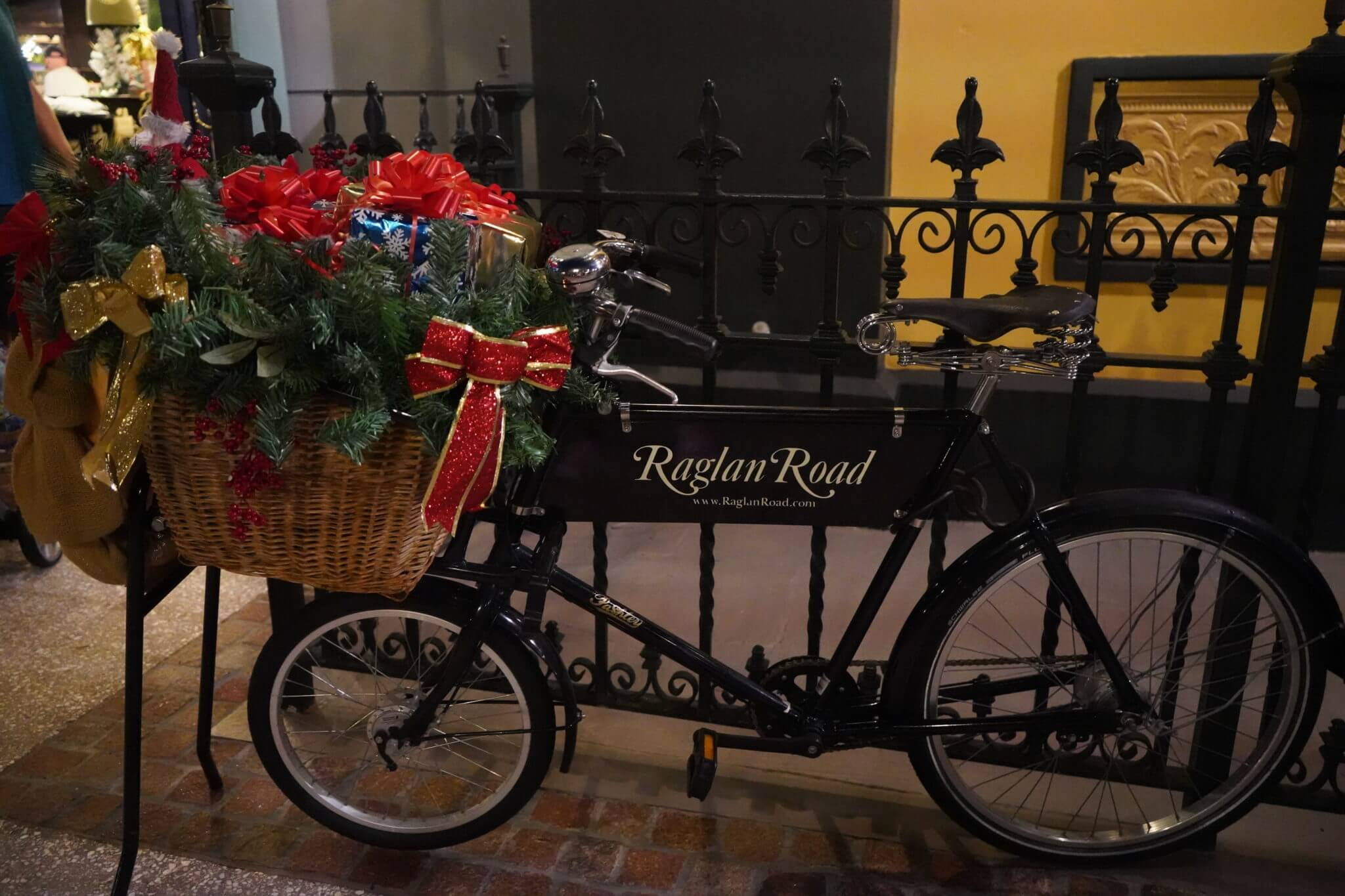 Raglan Road Bike Holiday Decorations at Disney Springs