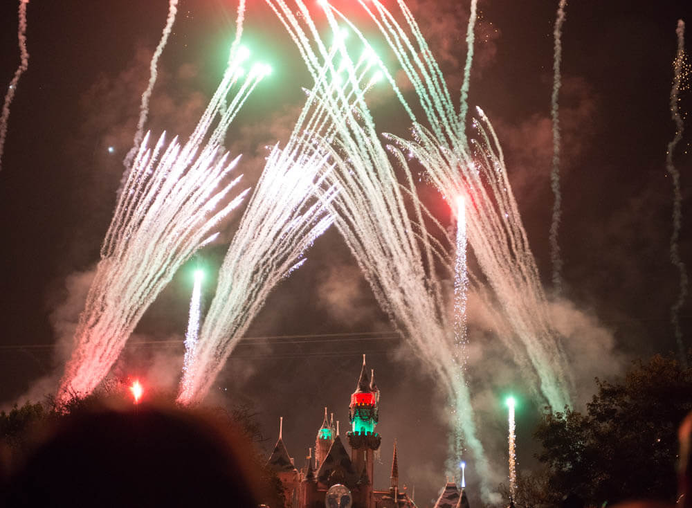 Disneyland Christmas Believe in Holiday Magic Fireworks