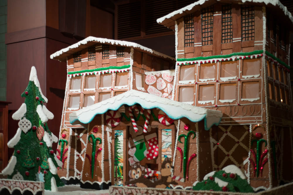 Grand Californian Christmas Gingerbread Hotel