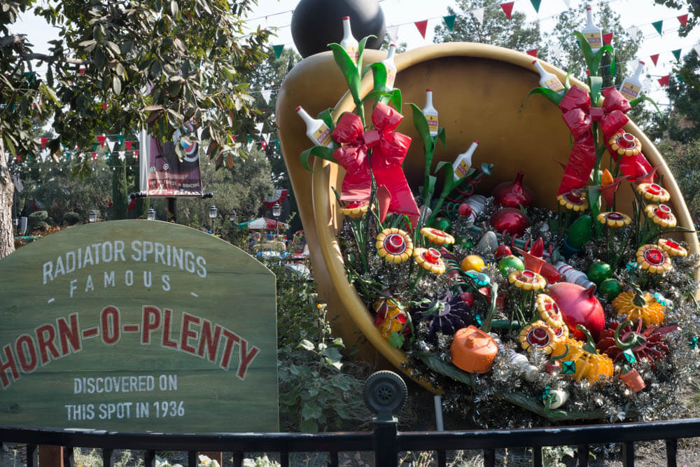 Horn o Plenty at Cars Land during Christmas