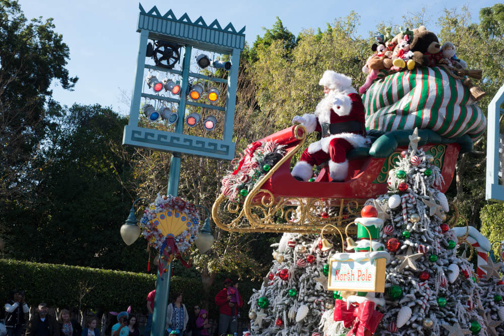 Santa Claus Christmas Fantasy Parade at Disneyland