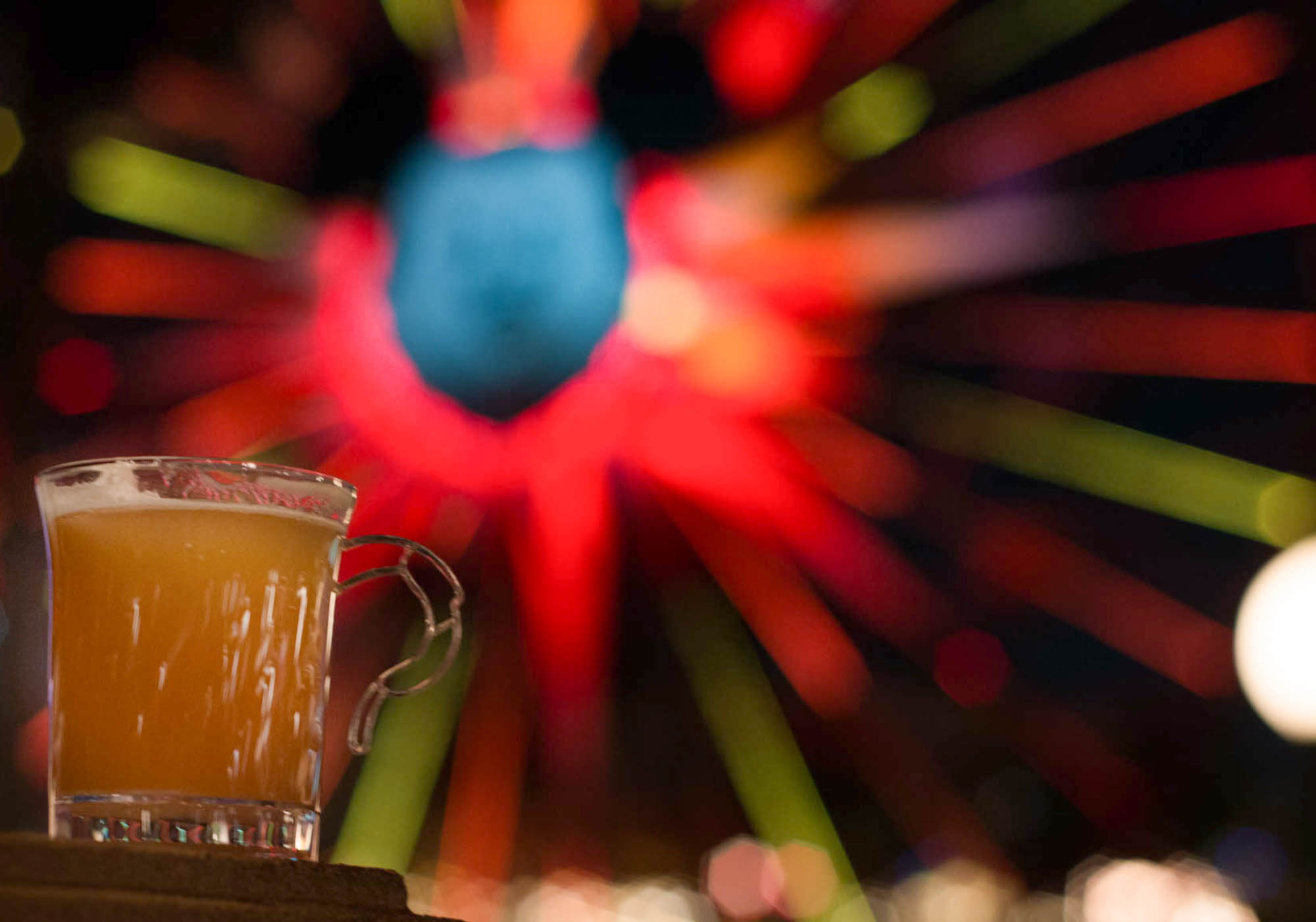Warm Bourbon Cider with House-made Bourbon-infused Marshmallow at Disneyland Festival of Holidays